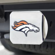 Denver Broncos Chrome Color Hitch Cover
