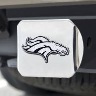 Denver Broncos Chrome Metal Hitch Cover
