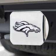 Denver Broncos Chrome Metal Hitch Cover