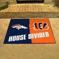 Denver Broncos/Cincinnati Bengals House Divided Mat