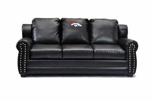 Denver Broncos Coach Leather Sofa