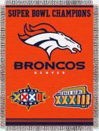 Denver Broncos Commemorative Throw Blanket