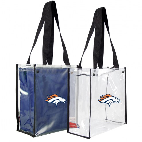 Denver Broncos Convertible Clear Tote