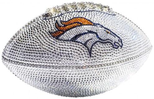 Denver Broncos Swarovski Crystal Football