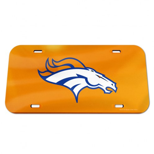 Denver Broncos Crystal Mirror License Plate