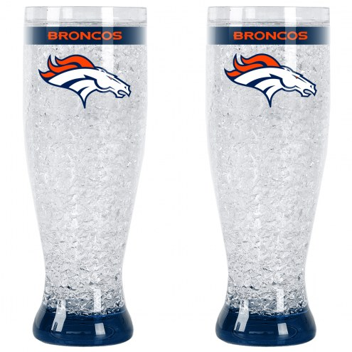 Denver Broncos Crystal Pilsner Glass