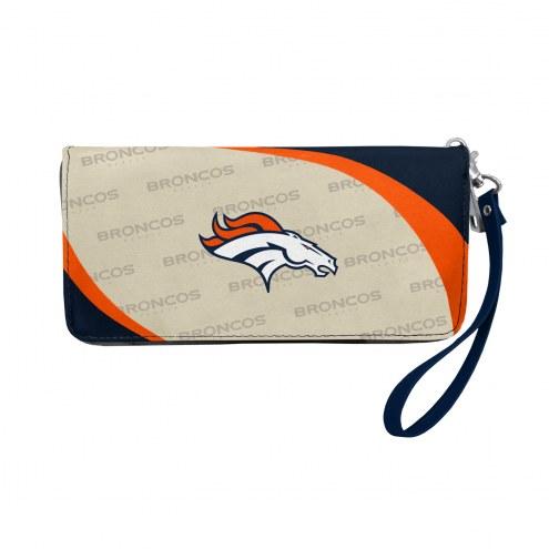 Denver Broncos Curve Zip Organizer Wallet