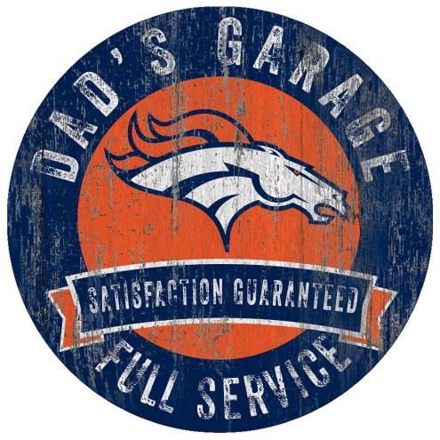 Denver Broncos Dad's Garage Sign