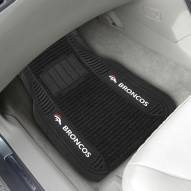 Denver Broncos Deluxe Car Floor Mat Set