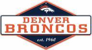Denver Broncos Diamond Panel Metal Sign