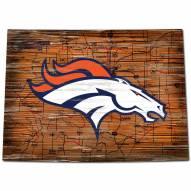 Denver Broncos Distressed State with Logo Sign
