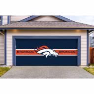 Denver Broncos Double Garage Door Cover