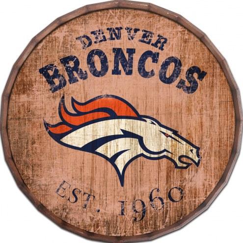 """Denver Broncos Established Date 16"""" Barrel Top"""
