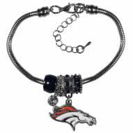 Denver Broncos Euro Bead Bracelet
