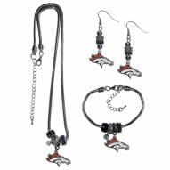 Denver Broncos Euro Bead Jewelry 3 Piece Set