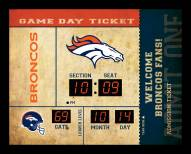Denver Broncos Bluetooth Scoreboard Wall Clock