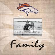 Denver Broncos Family Picture Frame