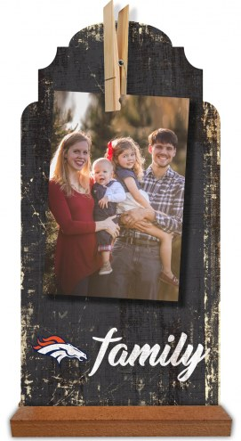 Denver Broncos Family Tabletop Clothespin Picture Holder