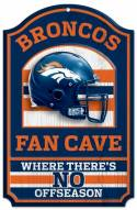 Denver Broncos Fan Cave Wood Sign
