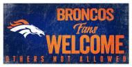 Denver Broncos Fans Welcome Sign