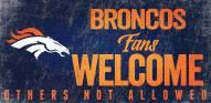 Denver Broncos Fans Welcome Wood Sign