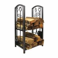 Denver Broncos Fireplace Wood Holder & Tool Set