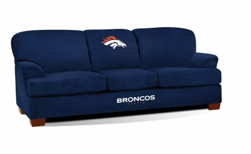 Denver Broncos First Team Microfiber Sofa