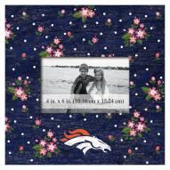 """Denver Broncos Floral 10"""" x 10"""" Picture Frame"""
