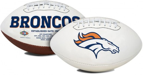 Denver Broncos Full Size Embroidered Signature Series Football