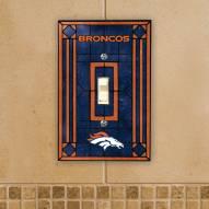 Denver Broncos Glass Single Light Switch Plate Cover