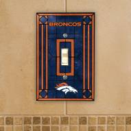 Denver Broncos Glass Single Light Switch Plate Cover