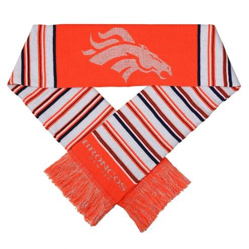 Denver Broncos Glitter Stripe Scarf
