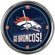 Denver Broncos Go Team Chrome Clock