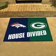 Denver Broncos/Green Bay Packers House Divided Mat