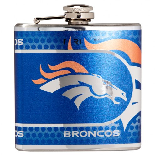 Denver Broncos Hi-Def Stainless Steel Flask