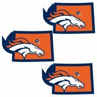 Denver Broncos Home State Decal - 3 Pack