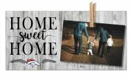 Denver Broncos Home Sweet Home Clothespin Frame