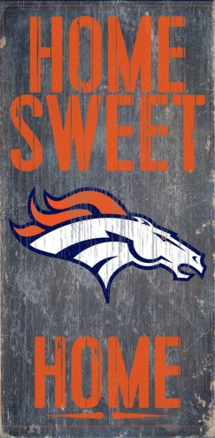 Denver Broncos Home Sweet Home Wood Sign
