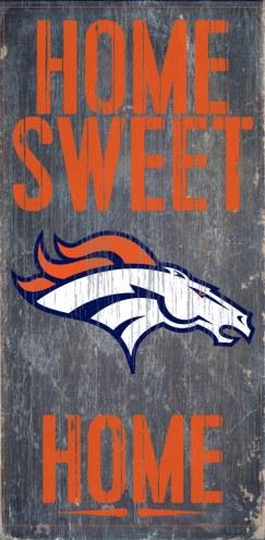 Denver Broncos Home Sweet Home Wood Sign