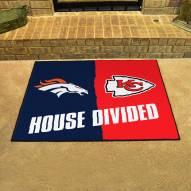 Denver Broncos/Kansas City Chiefs House Divided Mat
