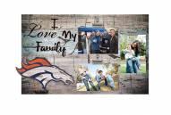 Denver Broncos I Love My Family Clip Frame