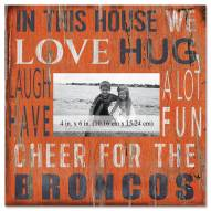 """Denver Broncos In This House 10"""" x 10"""" Picture Frame"""
