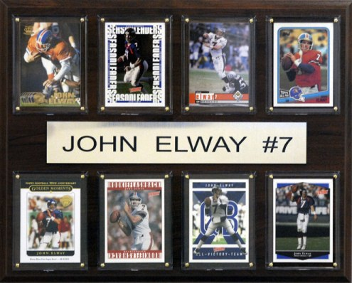 "Denver Broncos John Elway 12"" x 15"" Card Plaque"