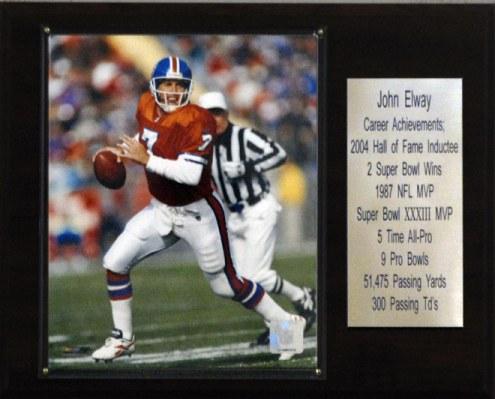 "Denver Broncos John Elway 12"" x 15"" Career Stat Plaque"