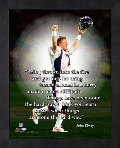 Denver Broncos John Elway Framed Pro Quote