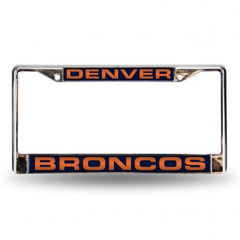 Denver Broncos Laser Chrome License Plate Frame