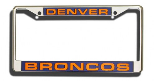 Denver Broncos Laser Cut License Plate Frame