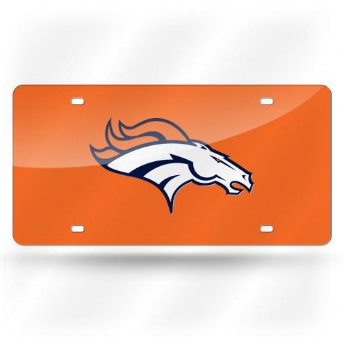 Denver Broncos Laser Cut License Plate