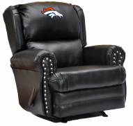 Denver Broncos Leather Coach Recliner