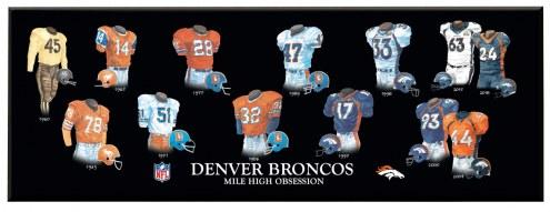 Denver Broncos Legacy Uniform Plaque